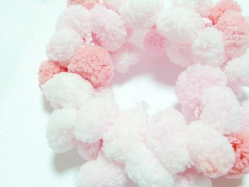 糖果毛線球髮圈