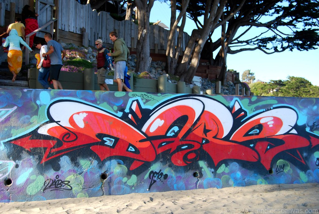 DABS Graffiti Piece in Bolinas California.