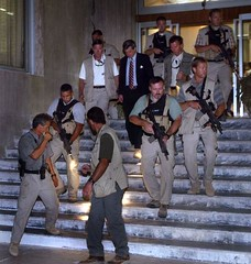 2585574JR019_bremer (LoneWolf1106) Tags: bush war gun military iraq security visit weapon baghdad secure administration protection protect armed bremer 258557