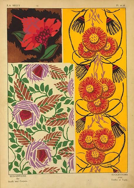 035-Suggestions pour étoffes et tapis 60 motifs en couleur 1927- Eugene Alain Seguy