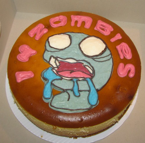 Chocolate Zombie on a Cheesecake