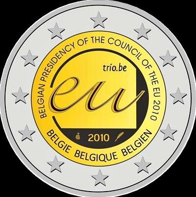 2 Euro Belgicko 2010, belgické predsedníctvo Rady Európskej únie v roku 2010