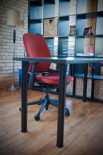 Cowork The Garage in Zeeland, Mi (Elevator Up, Leap Chairs)