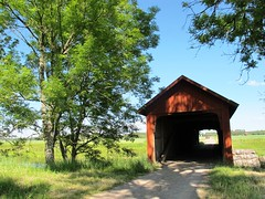Vaholm covered bridge at Tidan in Sweden #10