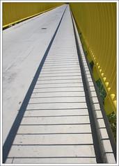 Yellow brigde (ekropka) Tags: bridge light shadow summer sky yellow kraków cracow lapms krakoff canon40d creattività ekropka