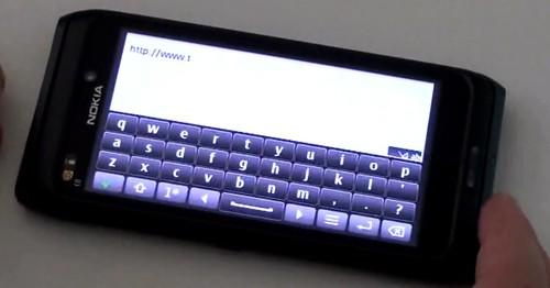 Neatpažinta 4 colių touch ekrano Nokia su QWERTY