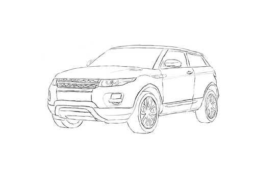 Range Rover Evoque Colouring Pages page 2