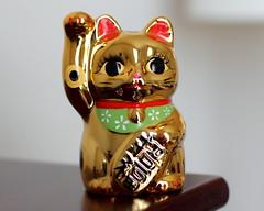 Maneki Neko Lucky Cat (Mr.TinDC) Tags: sculpture cats japan statues figurines kitties felines manekineko beckoningcat motherinlaw mil luckycat fortunecat statuettes welcomingcat moneycat goodluckcat japaneseluckycat storecat