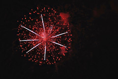 awesome firework ({2H Design}) Tags: light red sky cloud white night america fire star colorado day bright july firework cracker burst pyro fourth indepedence