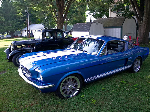 1967 ford mustang fastback blue