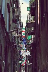 Napoli e i Mondiali (StellaDeLMattino) Tags: italy football nikon mess italia flag soccer flags caos napoli naples luci worldcup vicolo horrorvacui calcio disordine pulcinella bandiere centrostorico balconi mondiali d5000