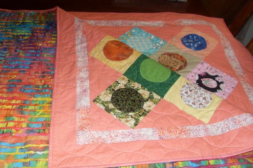 Rho's Polk Dot quilt folded