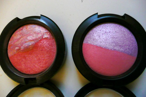 MAC Mineralize Blush - Moon River vs Hang Loose