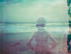 (Joe Curtin) Tags: ocean california beach polaroid doubleexposure hannah coronado 669 packfilm
