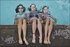 minnesota pool chillaxing (Dan Anderson.) Tags: girls summer wet po