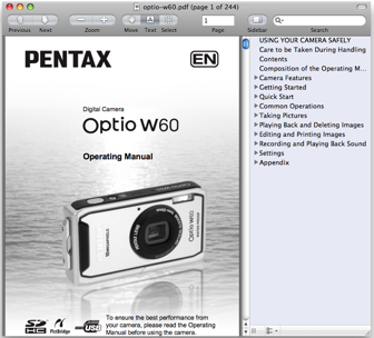Operation Manuals Download : Support & Service : PENTAX
