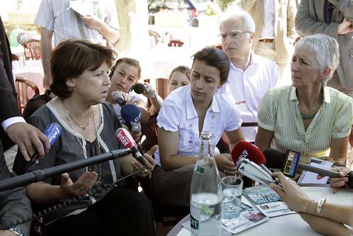 Martine Aubry et Cécile Duflot avec Anny Poursinnof