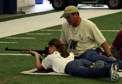 Girls in prone position