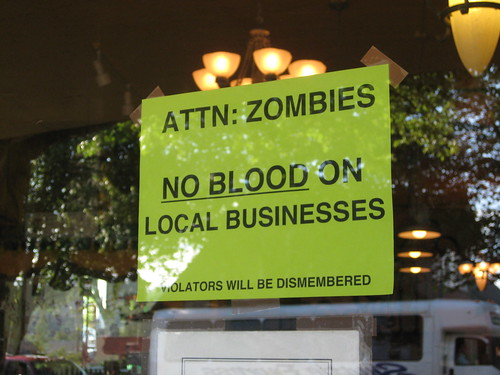 We were adequately warned. As in all zombie apocalypses, there was a cryptic sign of what was to come.