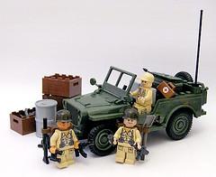 Army Jeep (Jemppu M) Tags: lego cobi brickarms