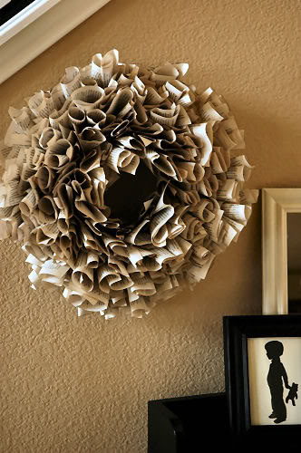 Living with Lindsay, Book Page Wreath