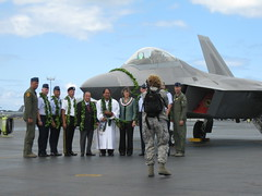 F-22 Arrival Ceremony