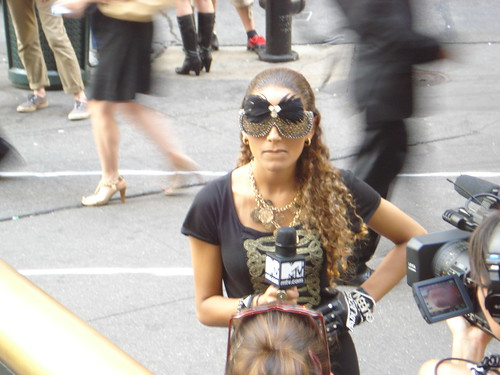 07-06-10 MTV Repoter at Lady Gaga Concert, NYC, NY