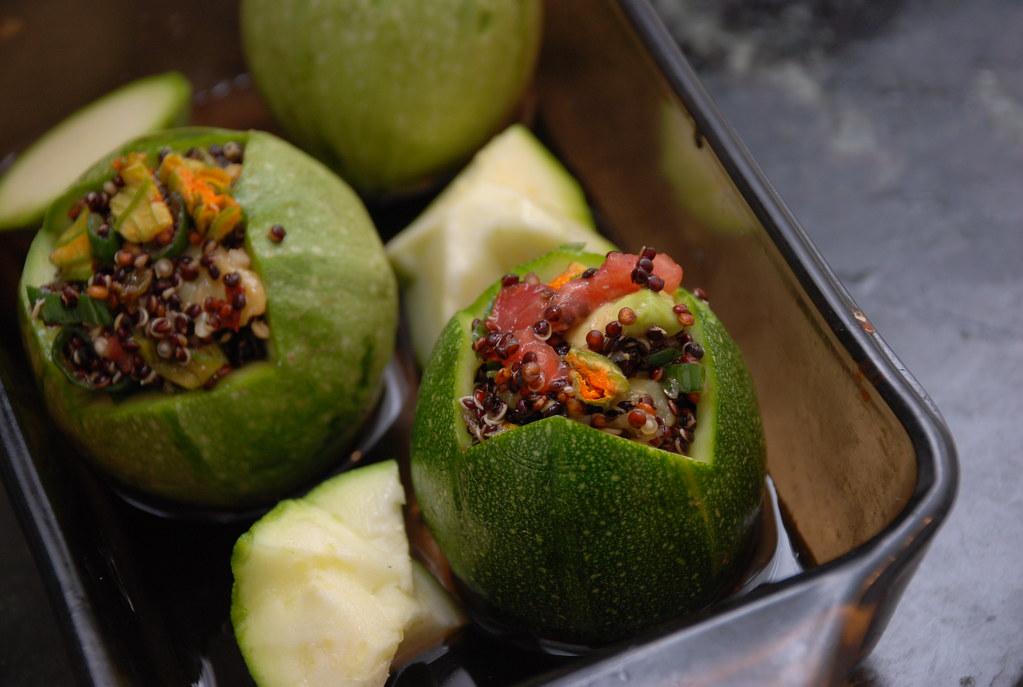 stuffed summer squash with quinoa