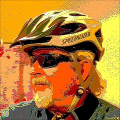 ~ Dom by Dom / Helmet by SPECIALIZED  ~ (Dominique Guillochon) Tags: usa art colors self french bicycling colours sandiego couleurs helmet pop dude diamond popart colori specialized bikehelmet besafe artpop newpopart diamondbackbicycle dombydom helmetbyspecialized
