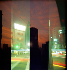 Tokyo sampler (TOKIO City Photos) Tags: camera 120 6x6 film japan holga exposure mask sampler kodak double lovers portra 120gn 800vc