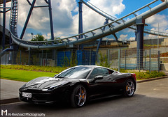 Black Italia (Mishari Al-Reshaid Photography) Tags: black clouds canon germany fun amazing cool italian italia awesome ferrari exotic hdr nurburgring 458