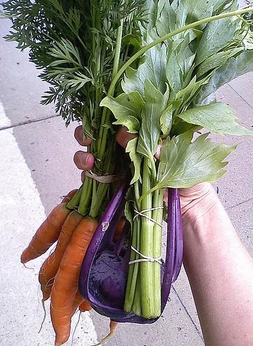 veggies from farmers market