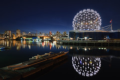 Science World (bruce...) Tags: city longexposure reflection night vancouver twilight nikon cityscape bc britishcolumbia falsecreek scienceworld waterscape d300 telusworldofscience tokina1116mmf28 atx116prodx