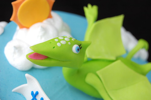 Dinosaur Train Birthday Cake - flying Tiny