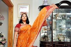 Breeze (hubblefromthesun) Tags: selfportrait nikon wind indian breeze sari