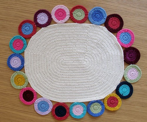 Crochet penny rug
