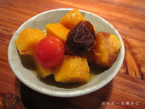 豐盛食堂梅釀南瓜蕃茄 plum-flavored pumpkin and tomato pickles