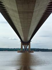 6777 North tower base (SierPinskiA) Tags: barton suspensionbridge humberbridge humber bartononhumber fujifinepixs9600 dynamicphotohdr bartonviewpoint