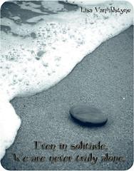 Alone (Lisa Van Alstyne) Tags: ocean beach water rock canon sand solitude alone malibu pebble foam duotone tamron xti ibrakeforbokeh