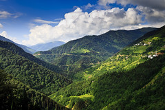 Mountain Top Village (Hunkar Salci) Tags: mountain mountains green clouds canon turkey eos village greens feilds giresun platinumphoto flickraward canon5dmk2 5dmk2 eos5dmk2