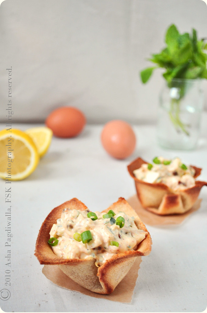 Egg Salad in Bread Cups
