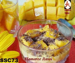 SSC73 - Mango Delight: Mango Sauce with Vanilla Ice-Cream