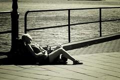 ...sunny dreaming... (Radek Bednařík) Tags: street travel people urban white black lomo moments mood sweden stockholm live flash gimp process