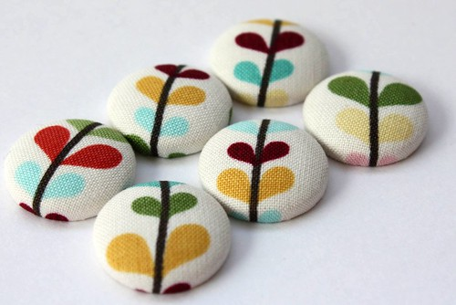 Bloom & Grow Fabric Covered Button Magnets