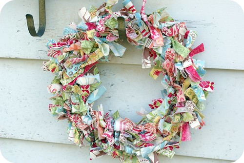 fabric wreath. {verna.}