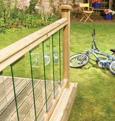 Traditional Glass Panel Decking (Richard Burbidge) Tags: decks decking deckrailing deckboards wooddecking gardendecking richardburbidge deckingbalustrade deckingrails deckingbalustrades