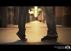 She & Him (Rick Nunn) Tags: street cute night shoes affection bokeh path pda romance jeans fuckyou denim thegirl vomit whatwouldjesusdo explored stobist p502 p502010