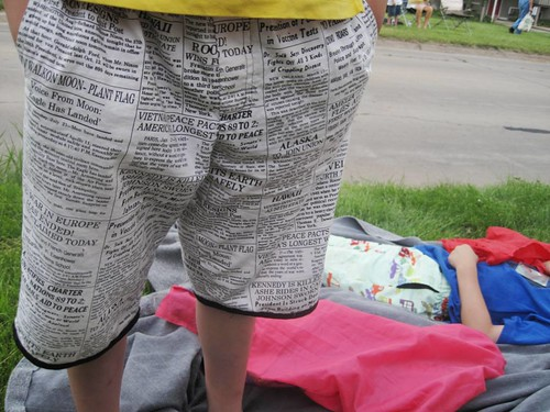 newspaper shorts