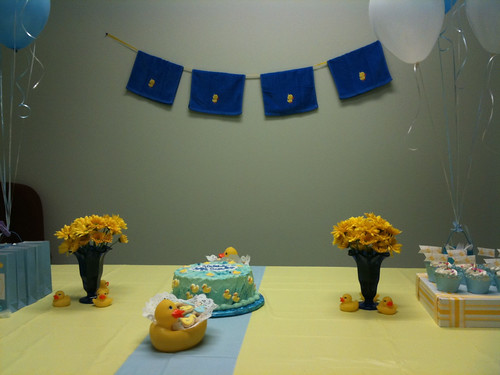 A duckie baby shower for baby Sebastian