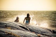 Summer Splash!! ({Andrea}) Tags: girls summer canon fun eos rocks wake waves splash crashing 50d msh0111 msh01114